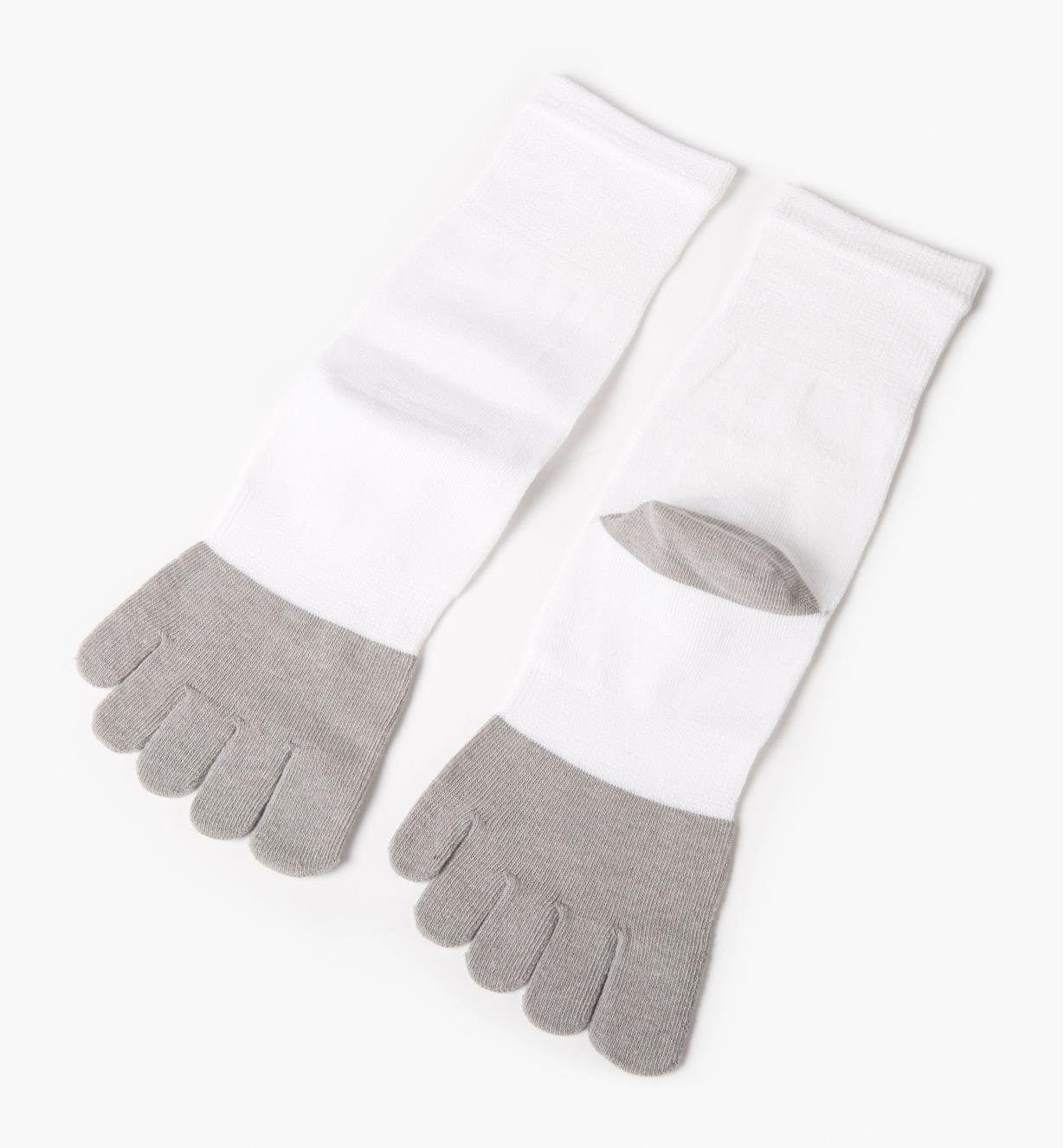White/Gray Toe Socks