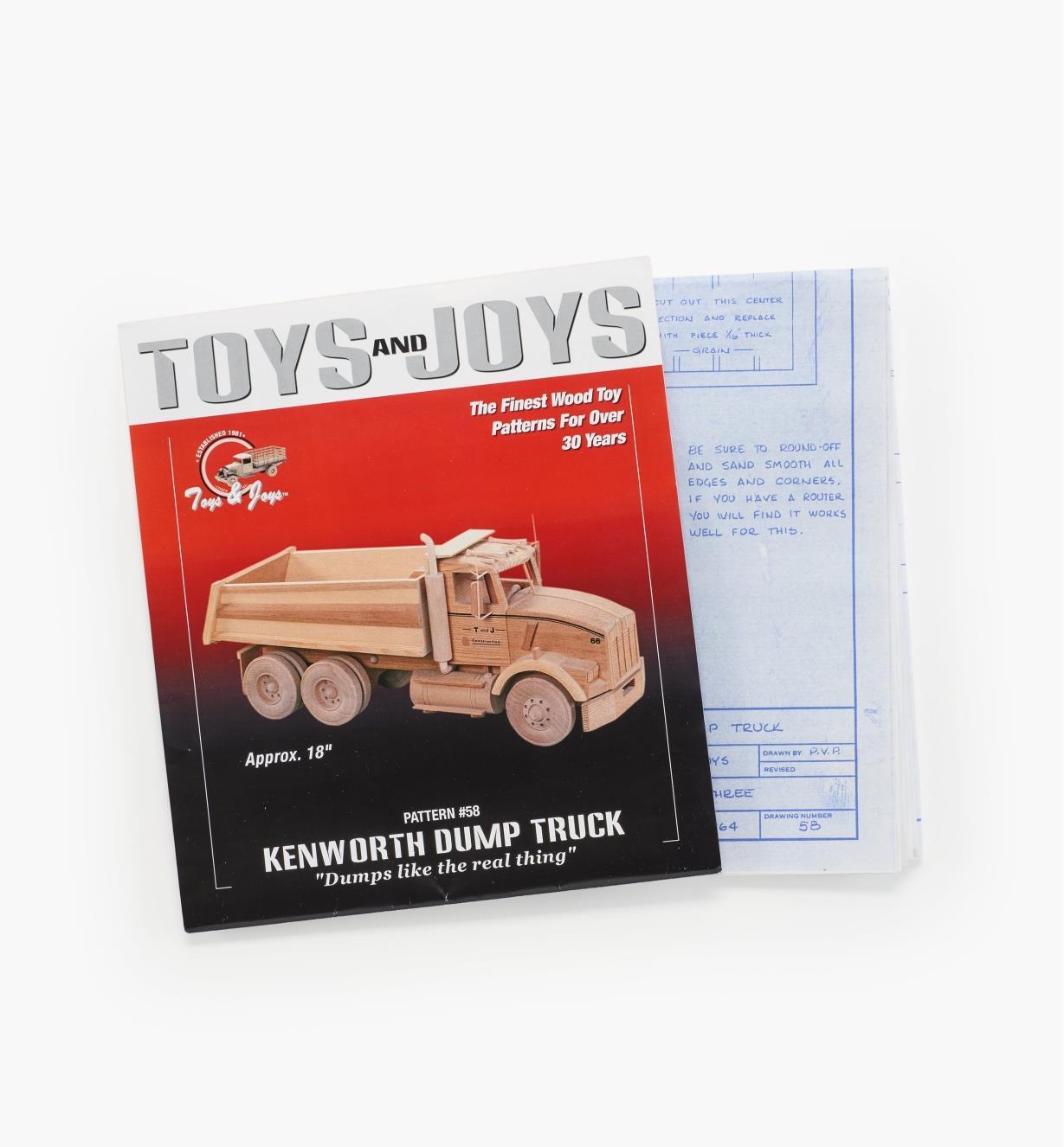 26L1003 - Kenworth Dump Truck Plan