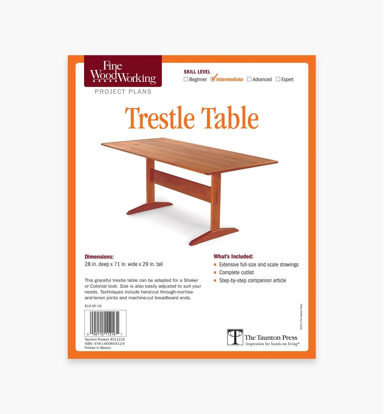 73L2532 - Trestle Table Plan