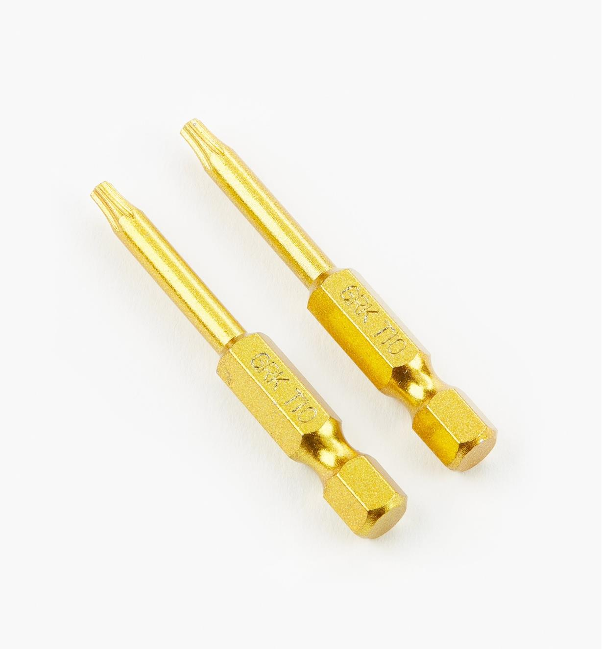 "93Z0112 - Yellow T-10 x 2"" Torx Bits, pair"
