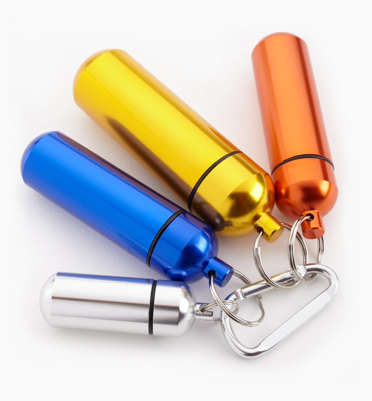 09A0770 - Utility Capsule Set of 4 (Silver, Orange, Blue and Gold)