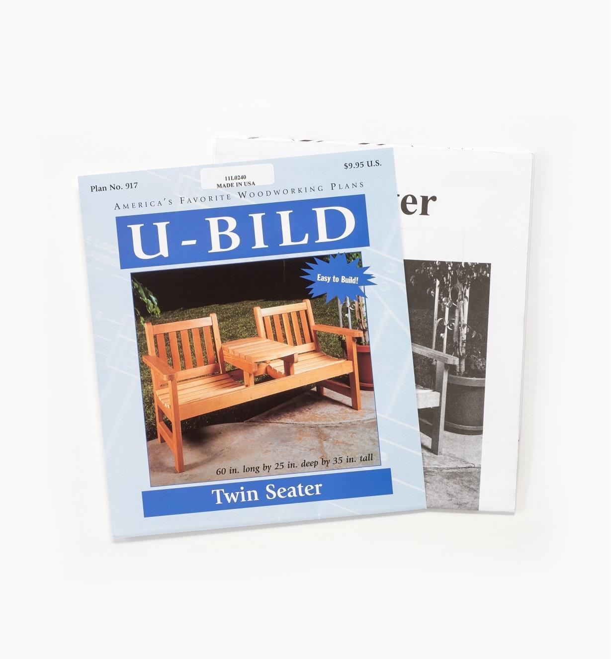 11L0240 - Twin-Seater Garden Bench Plan