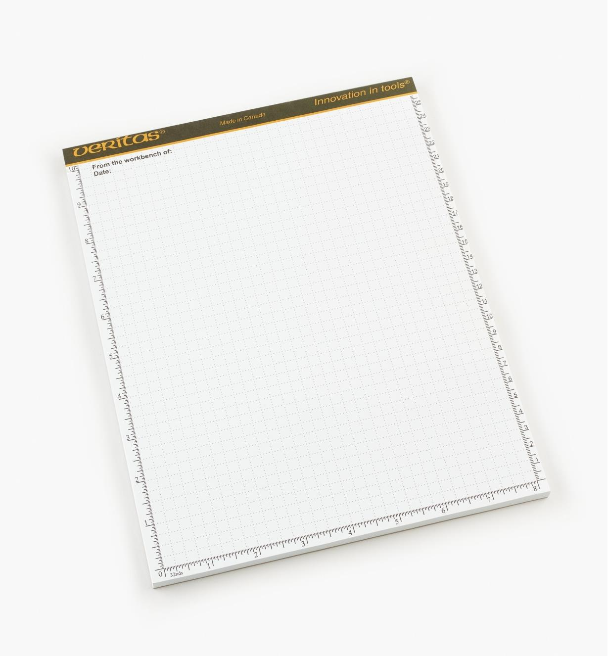 "05L2110 - Veritas 8 1/2"" × 11"" 48-sheet Scratch Pad, each"