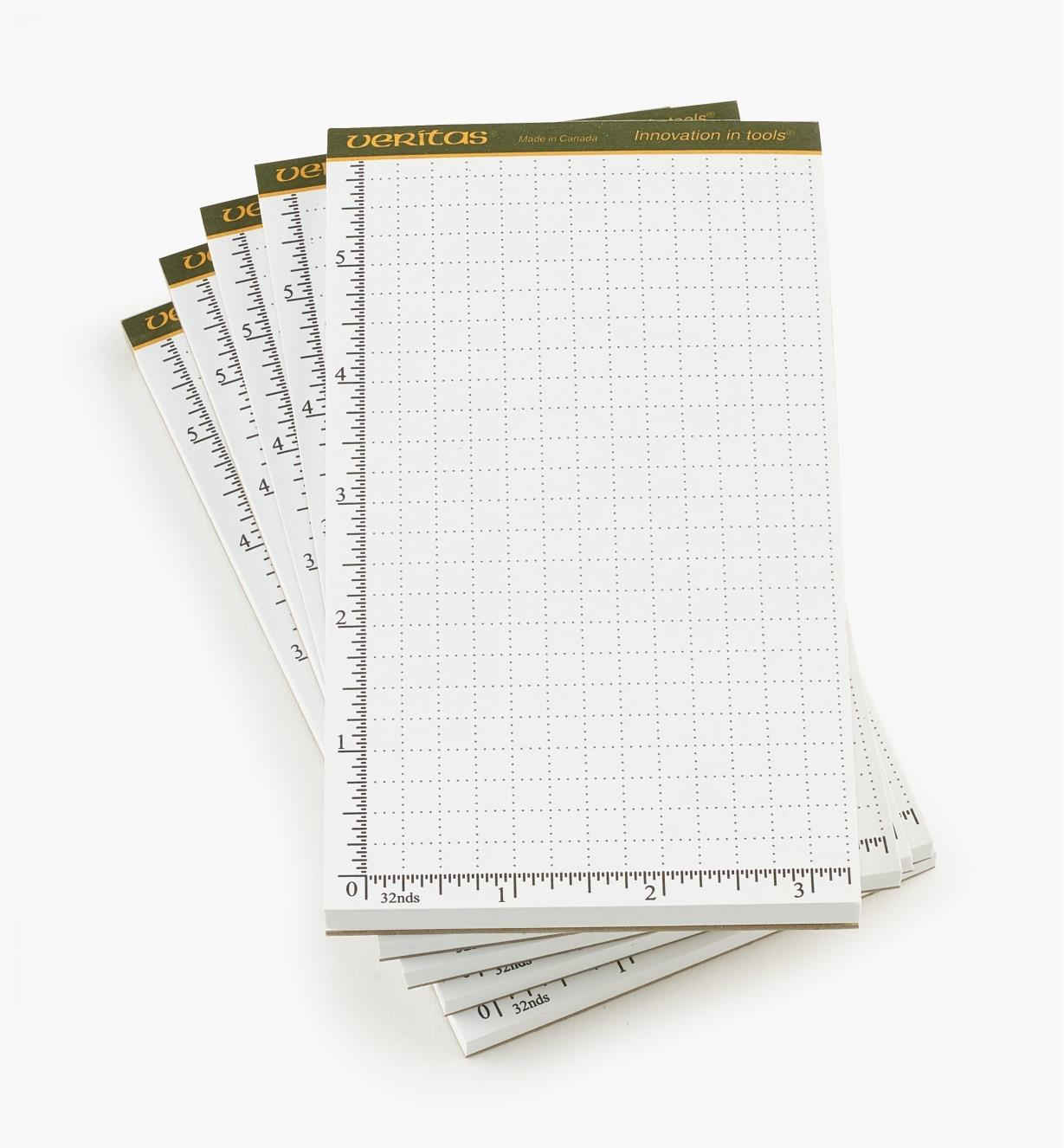 05L2120 - Blocs-notes Veritas de 3 1/2 po x 6 po, 50 feuilles, le paquet de 5
