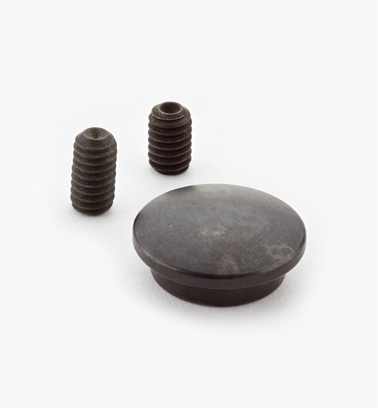 "05G0603 - Veritas 3"" 1/4 20 Knock-Down Fastener, Black Dowel Cap, ea."