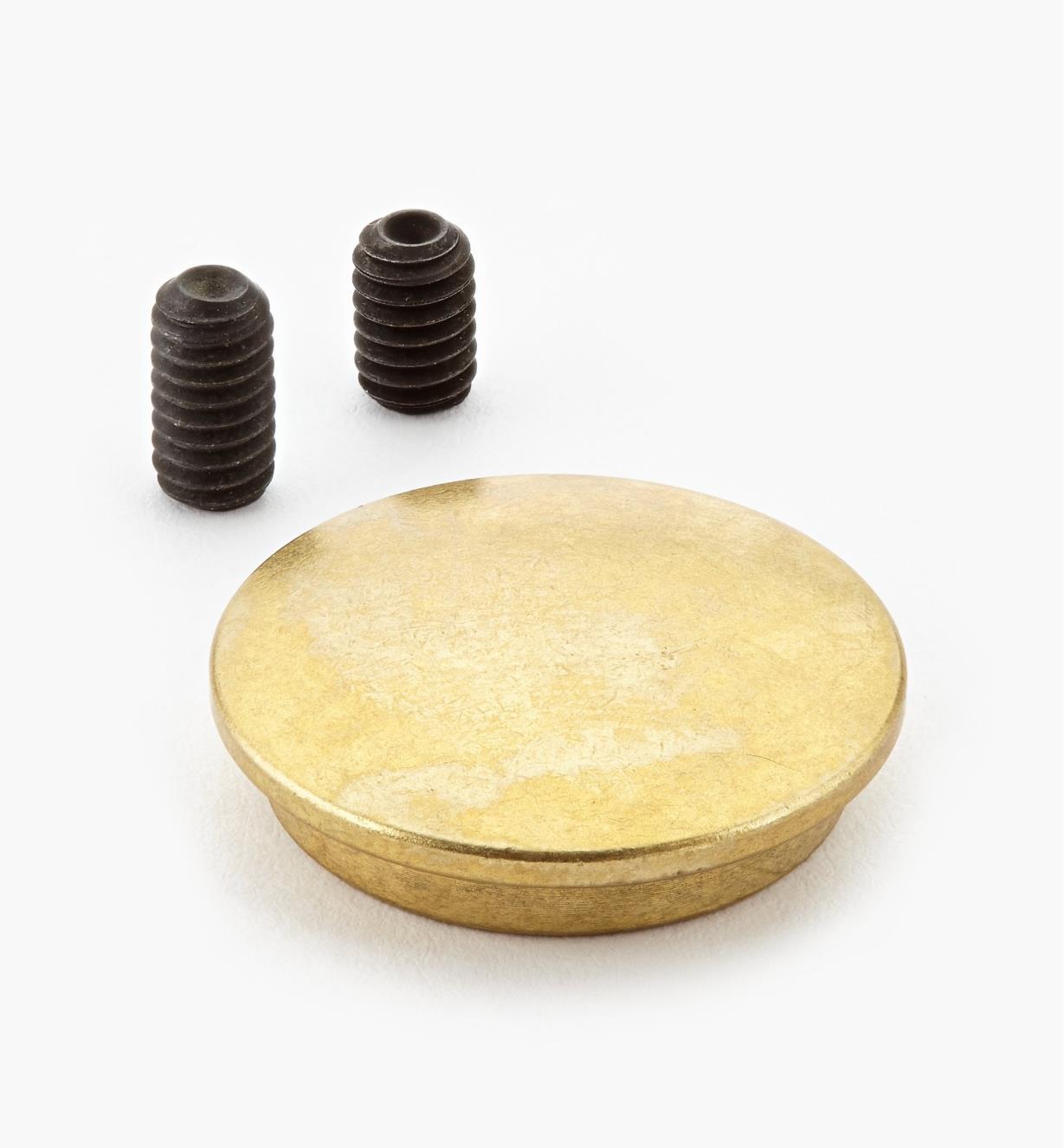 05G0622 - Cache-écrou en laiton pour ferrure d'assemblage démontable 3/8 16 de 5po Veritas, l'unité