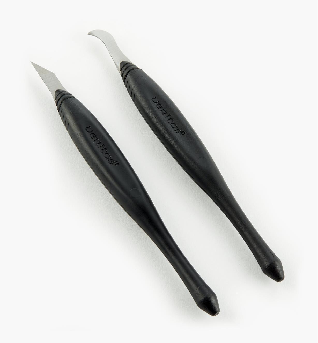 05K1232 - Ensemble de couteaux à rainurer et de finition Veritas, 0,032po