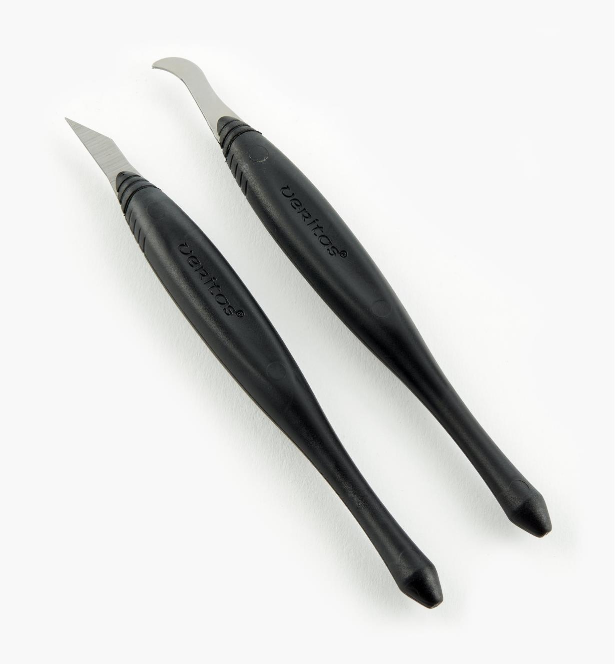 05K1233 - Ensemble de couteaux à rainurer et de finition Veritas, 0,040po
