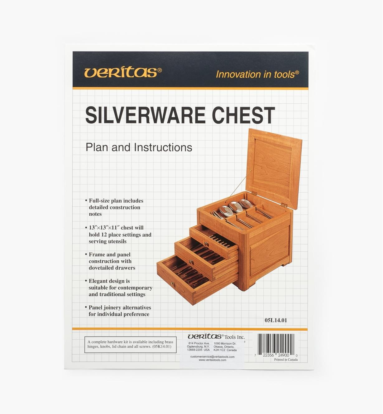 05L1401 - Silverware Chest Plan