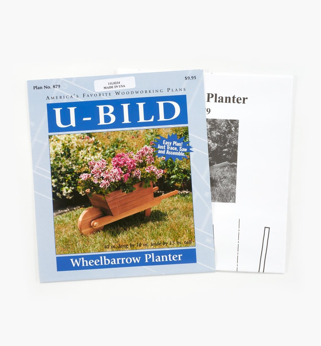 11L0234 - Wheelbarrow Planter Plan
