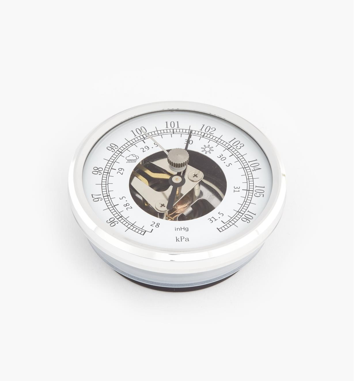 46K7001 - Baromètre encastrable à lunette en aluminium, l'unité