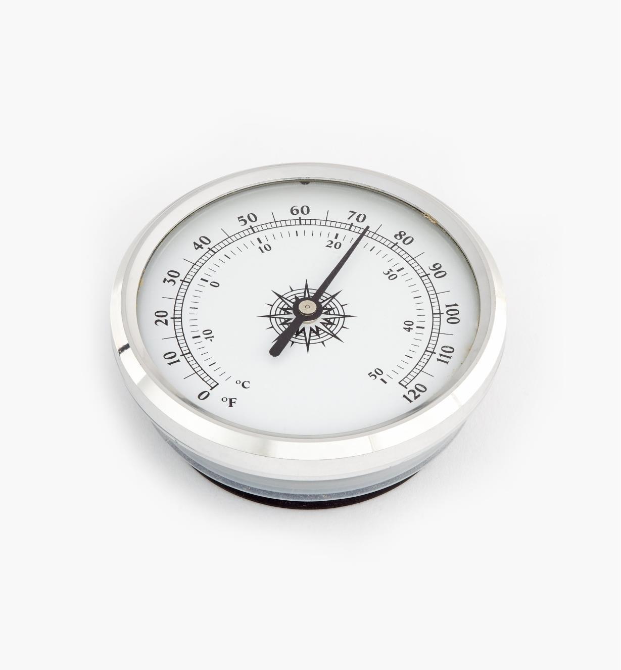 46K7003 - Thermomètre encastrable à lunette en aluminium, l'unité
