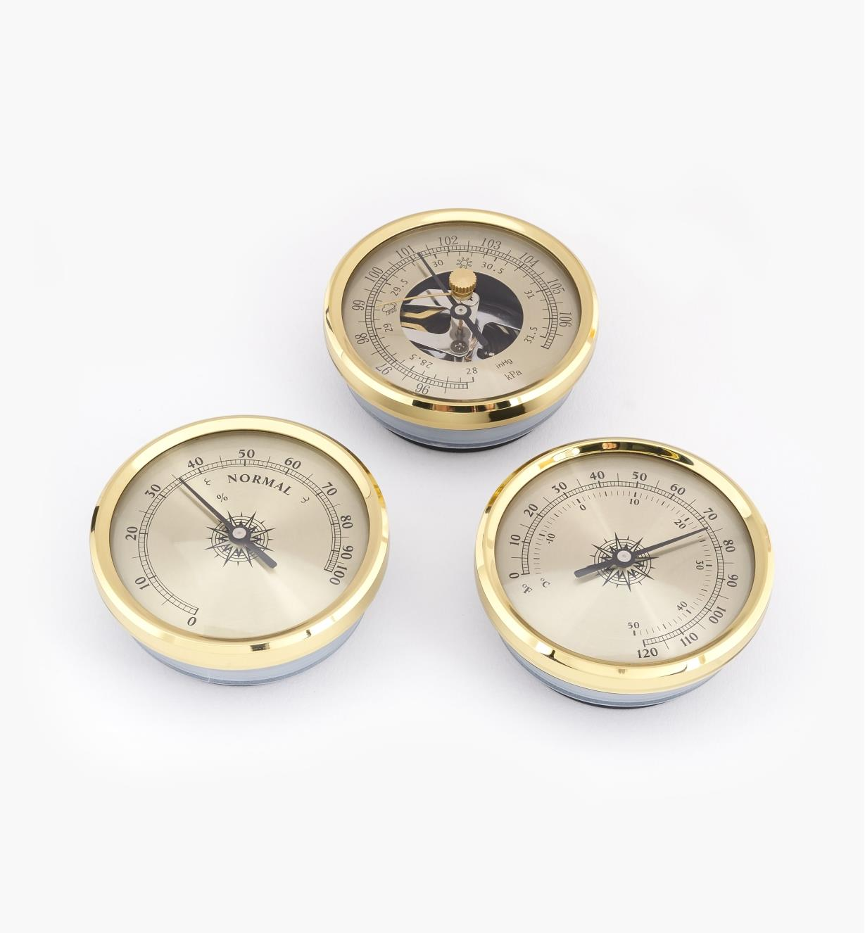 46K7030 - Set of 3 Brass Weather Instruments