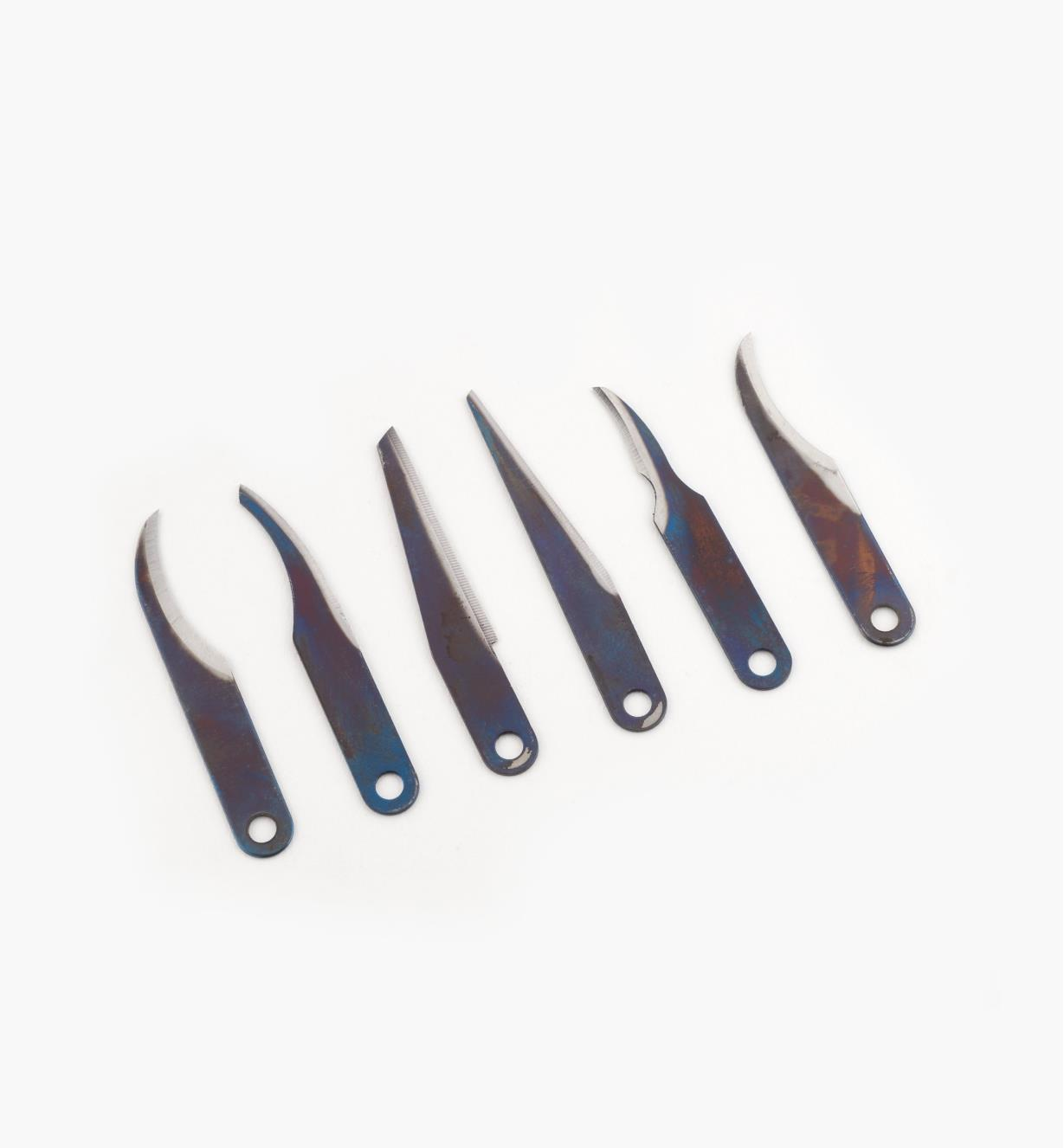 81D0110 - Set of 6 Warren Knife Blades (1 of each)