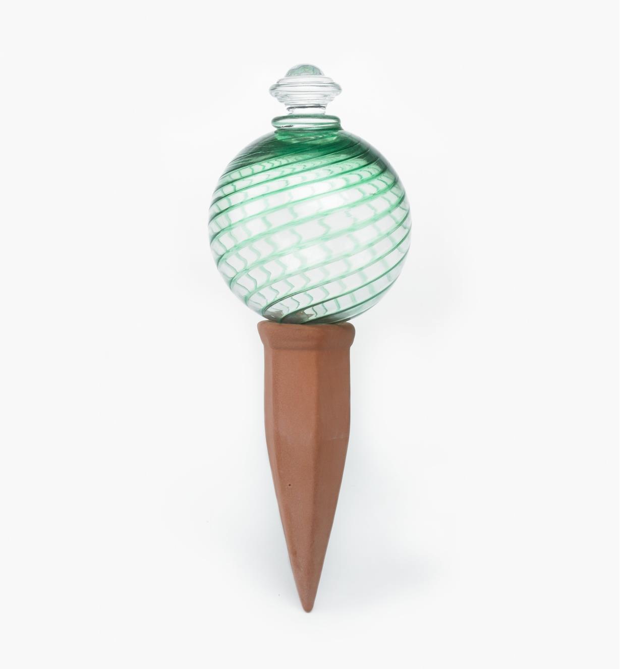 XC487G - Green Water Globe & Spike Set