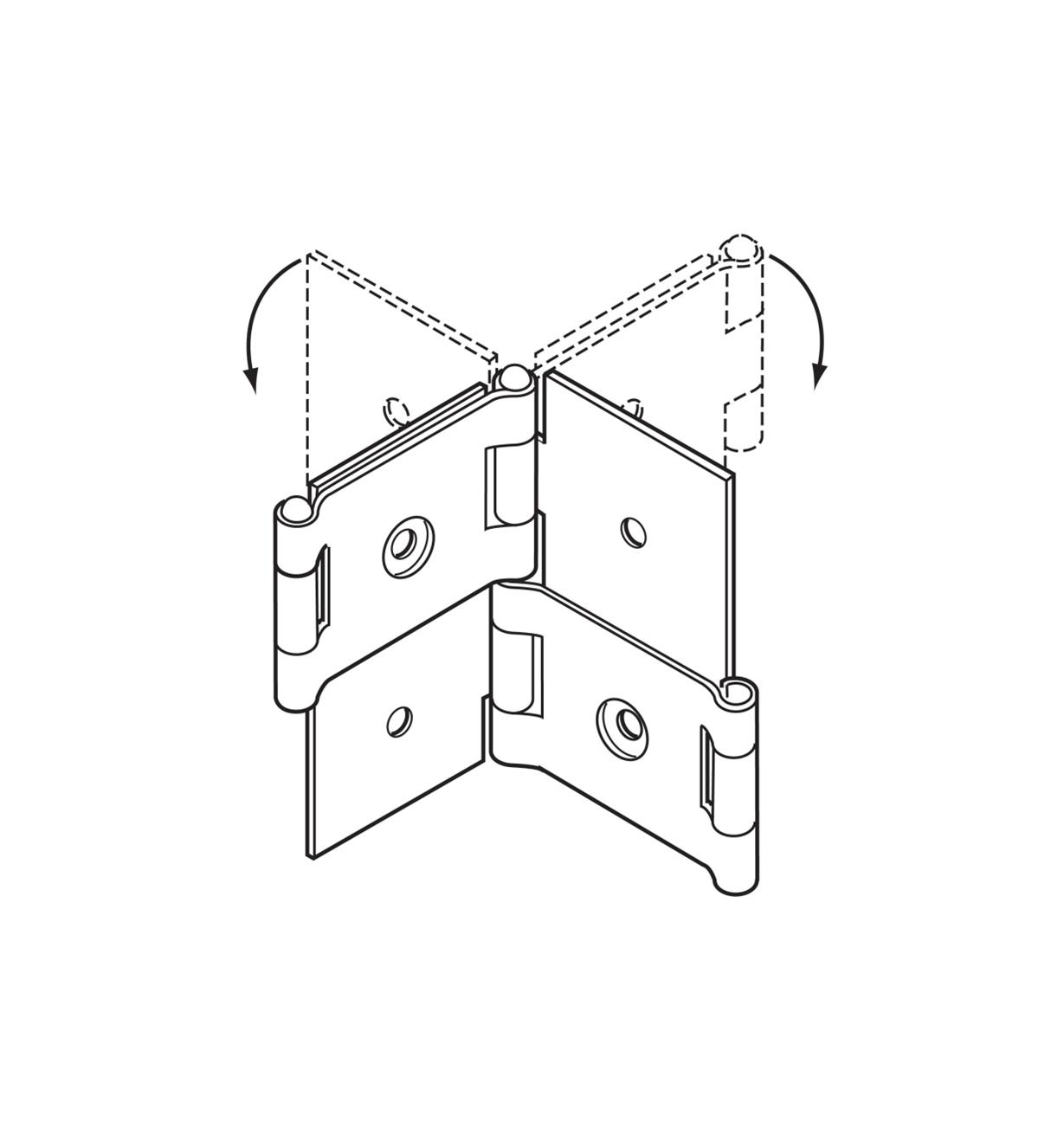 "00H5301 - 3/4"" Screen Hinges, pr."