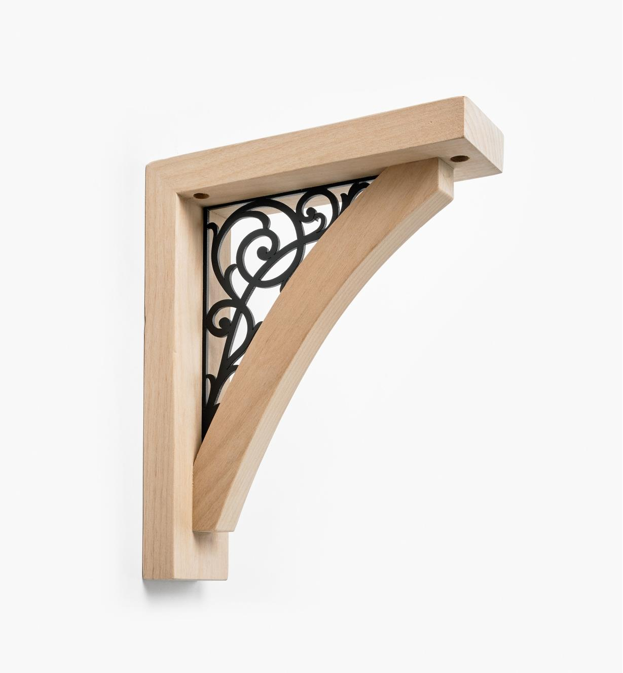 00S0732 - Scroll Wooden Shelf Bracket