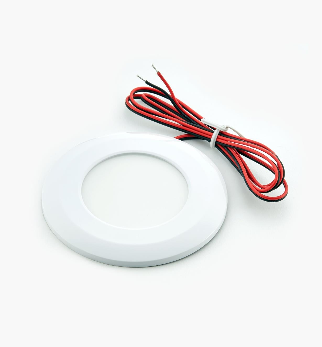 00U4420W - Natural White Wafer Light, White Finish