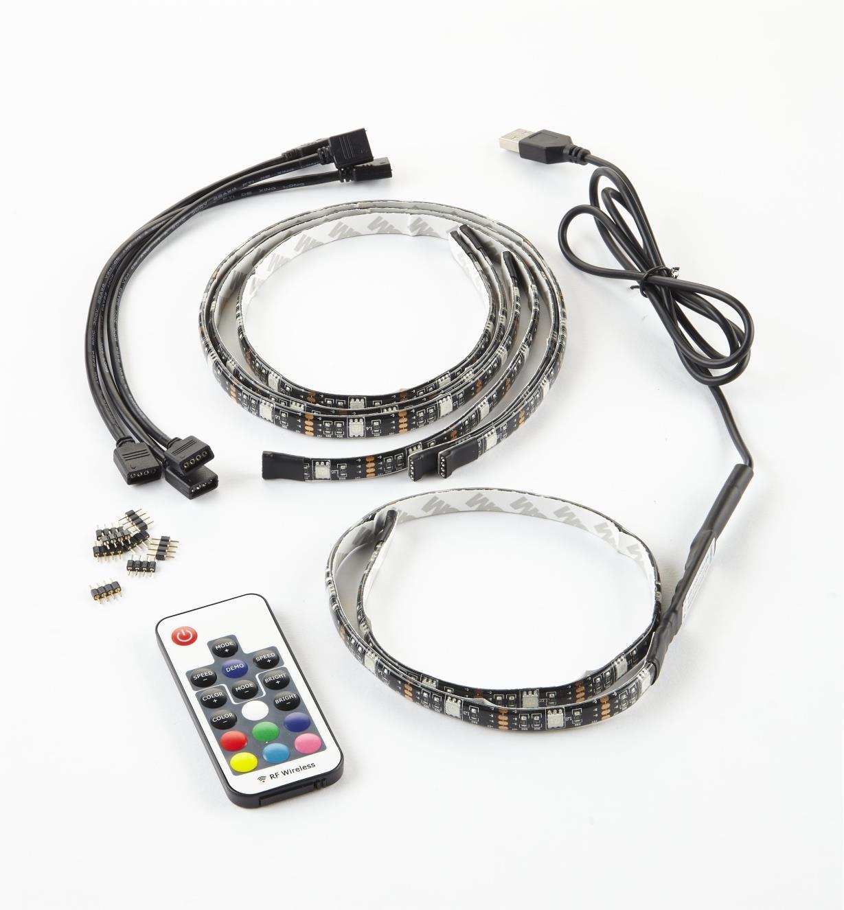 00U4620 - Ensemble de luminaire-ruban à DEL à couleur réglable USB