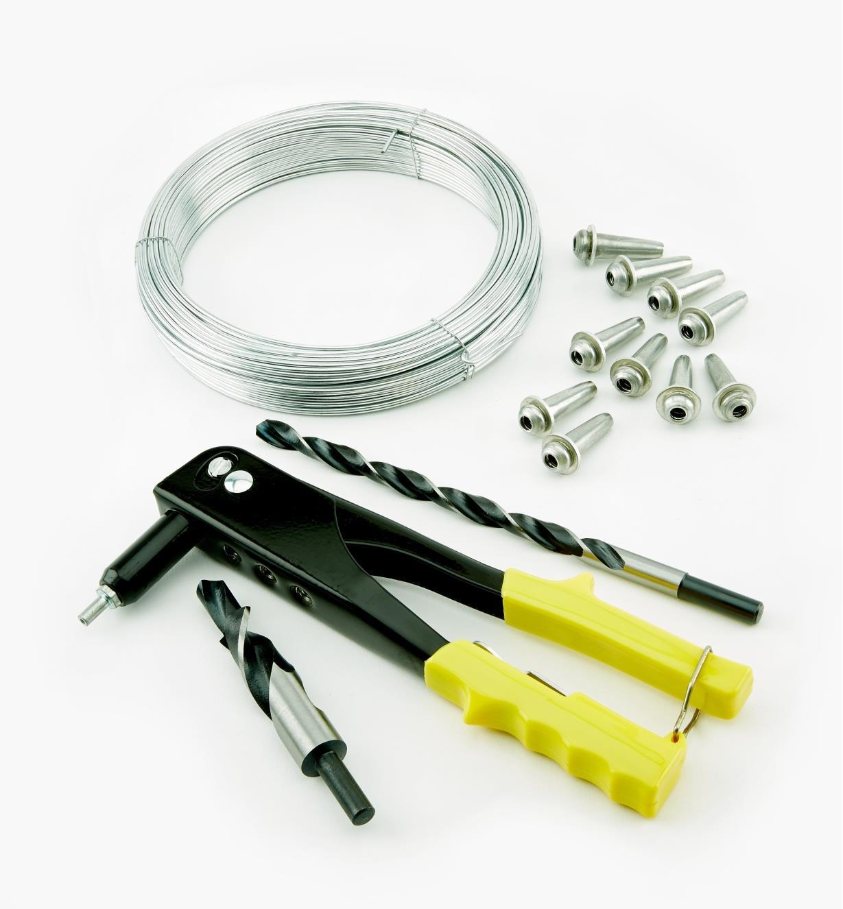 09A0810 - Système de tensionnement pour câbles d'acier