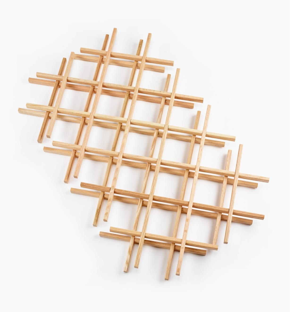 "12K7431 - 17"" x 29"" Oak Lattices, pr."