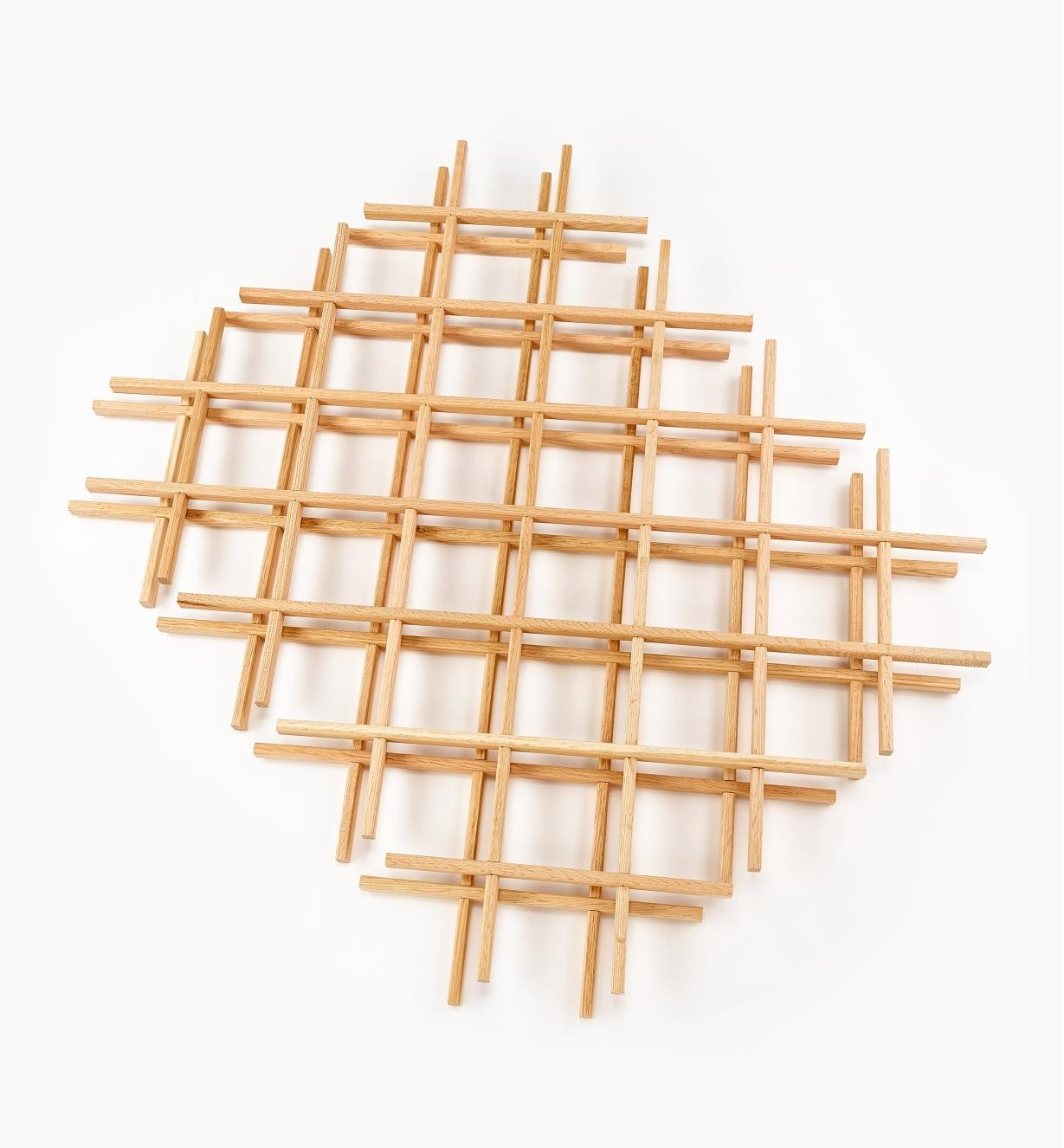 "12K7441 - 24"" x 30"" Oak Lattices, pr."