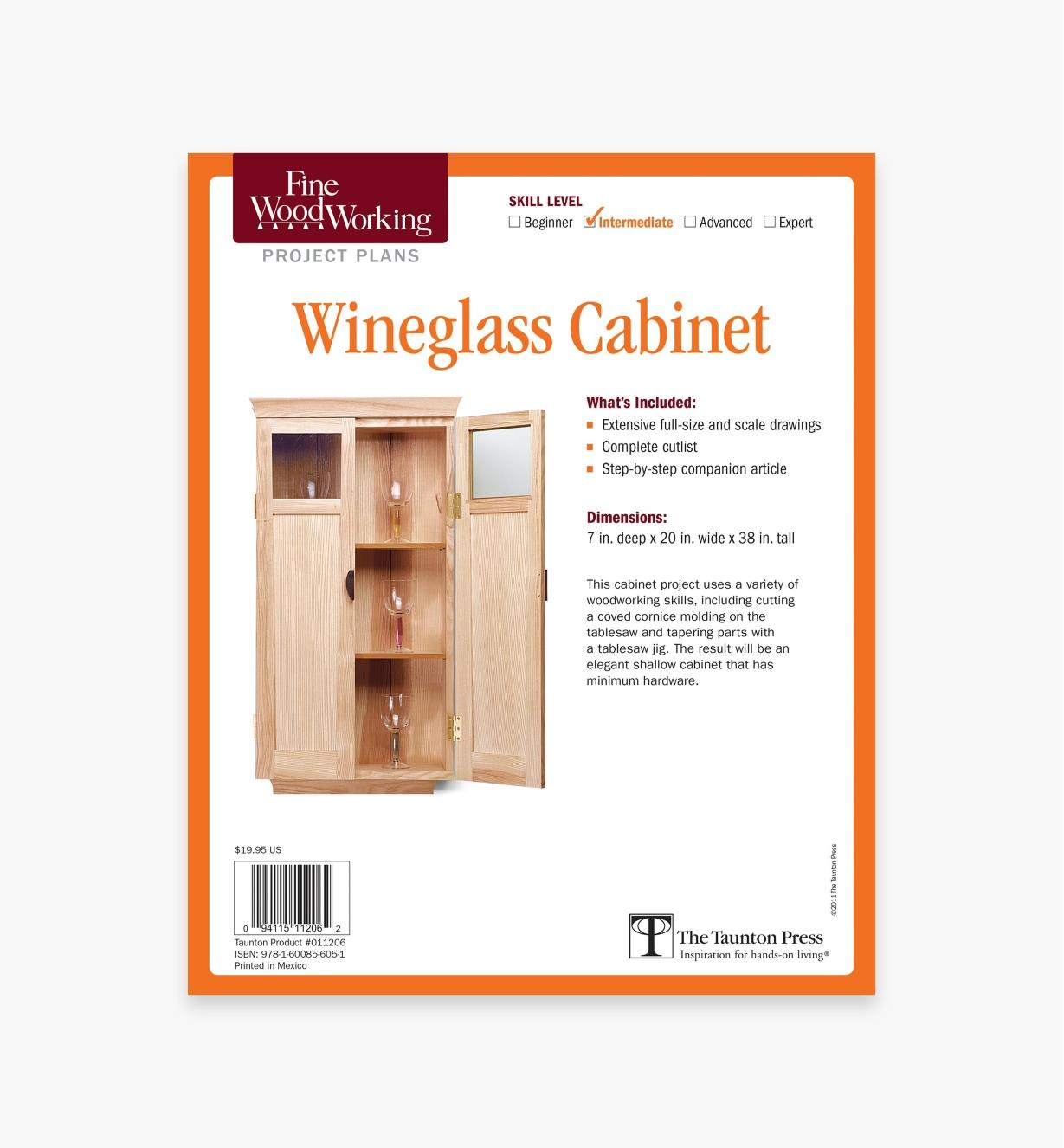 73L2543 - Wineglass Cabinet Plan