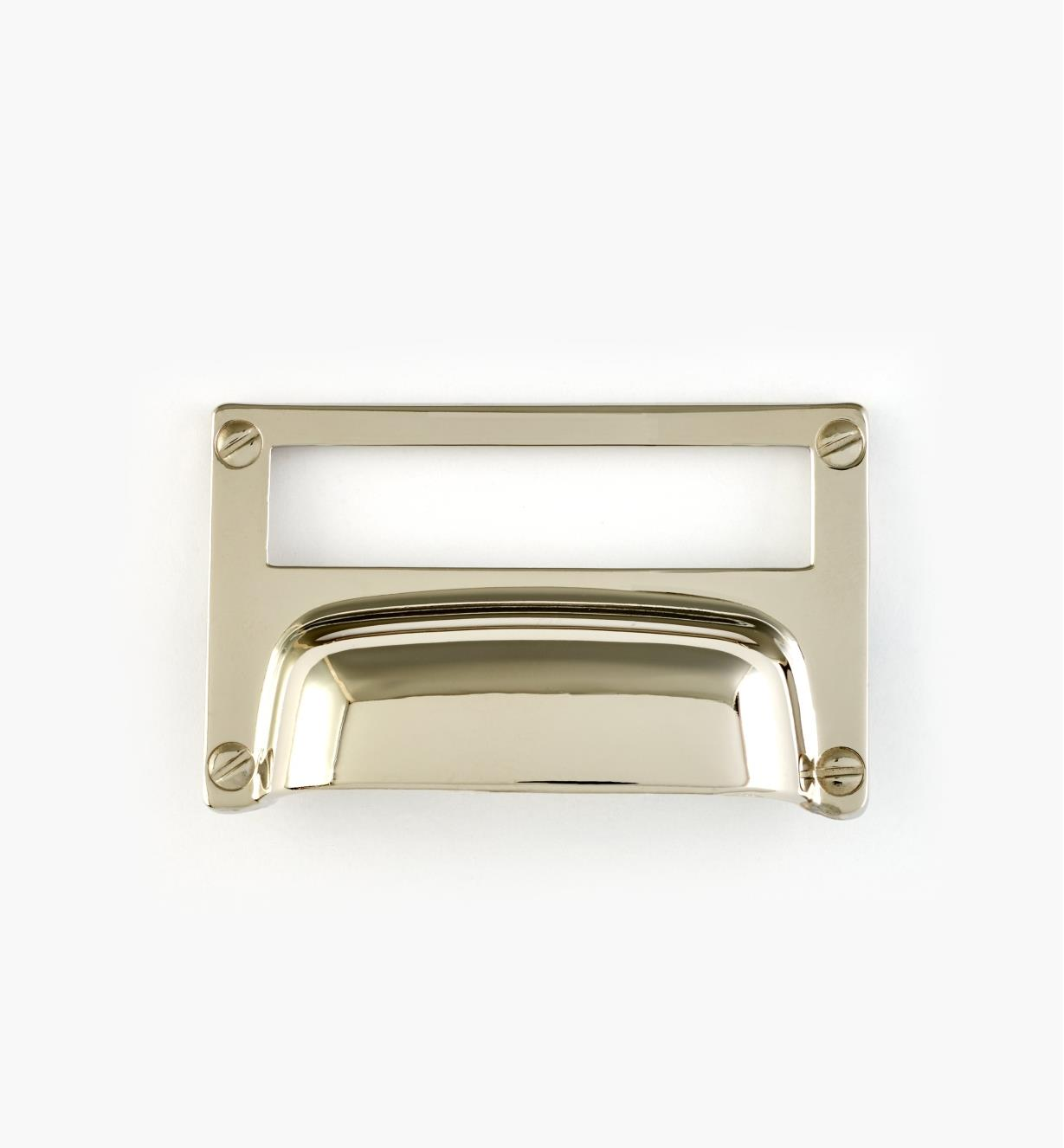 01A5765 - Chrome Plated Zamak Card Frame Pull