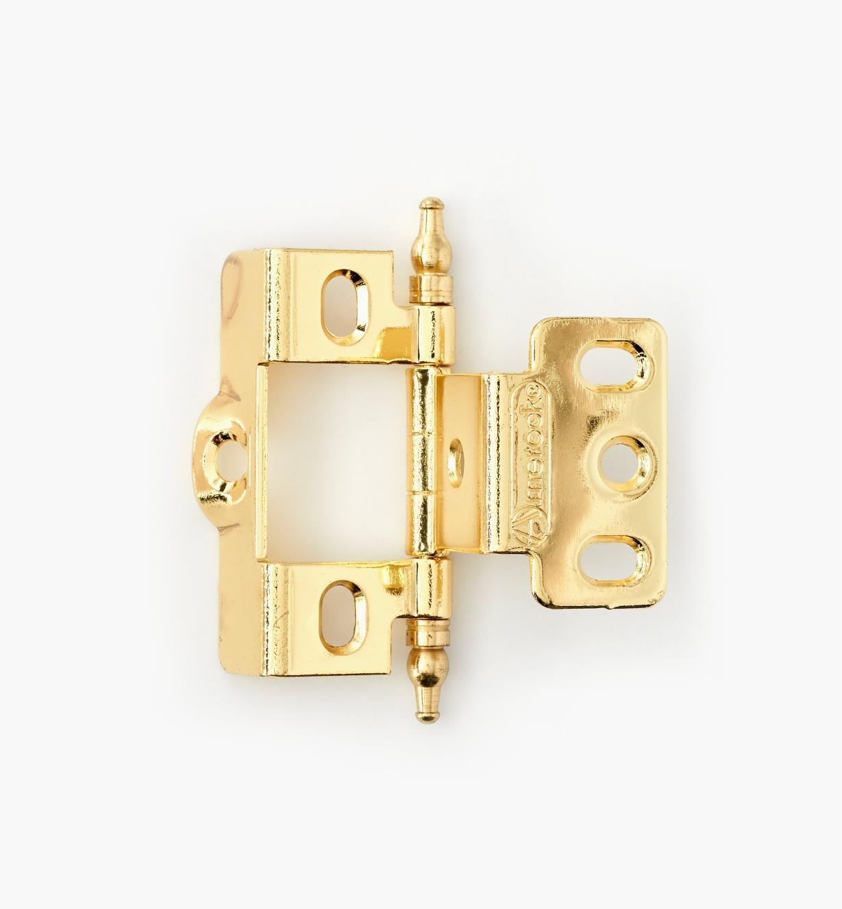 01H3020 - Full-Wrap Hinge,Brass Plate, Minaret