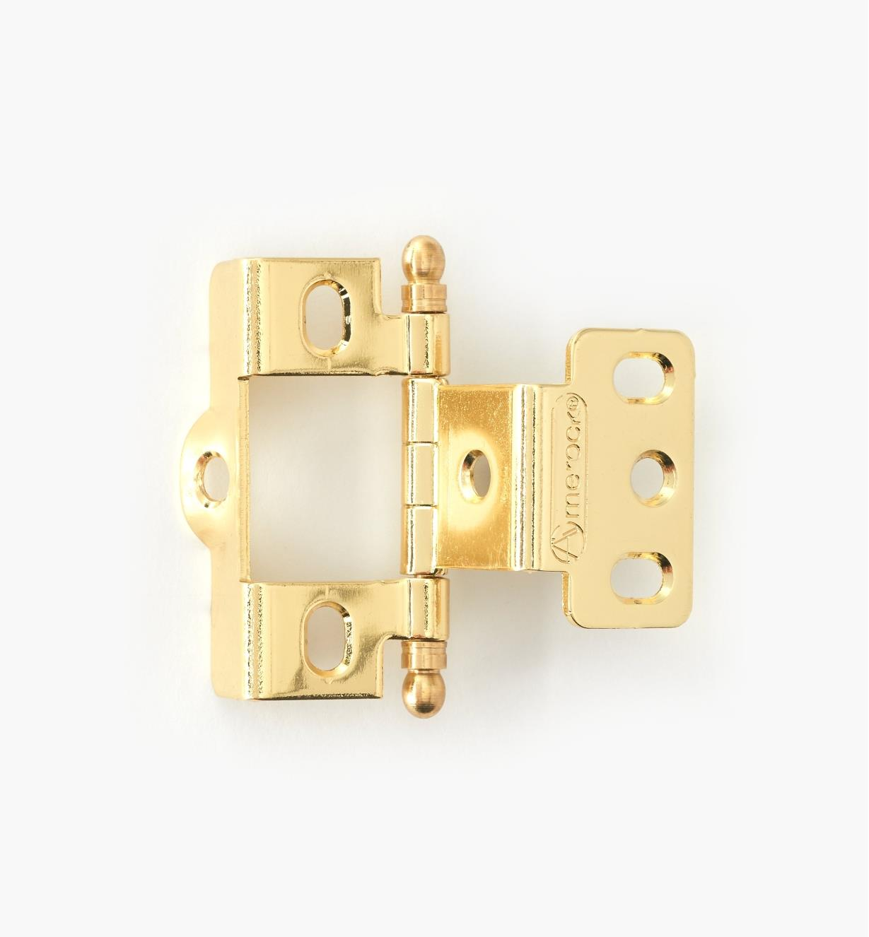 01H3022 - Full-Wrap Hinge,Brass Plate, Ball