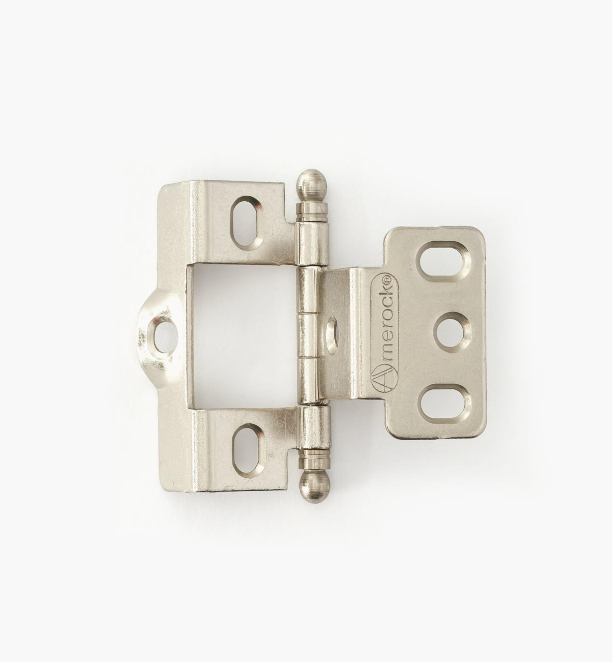 01H3042 - Full-Wrap Hinge,Nickel Plate, Ball