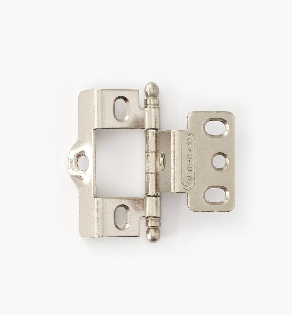 01H3082 - Full-Wrap Hinge,Satin Chrome, Ball