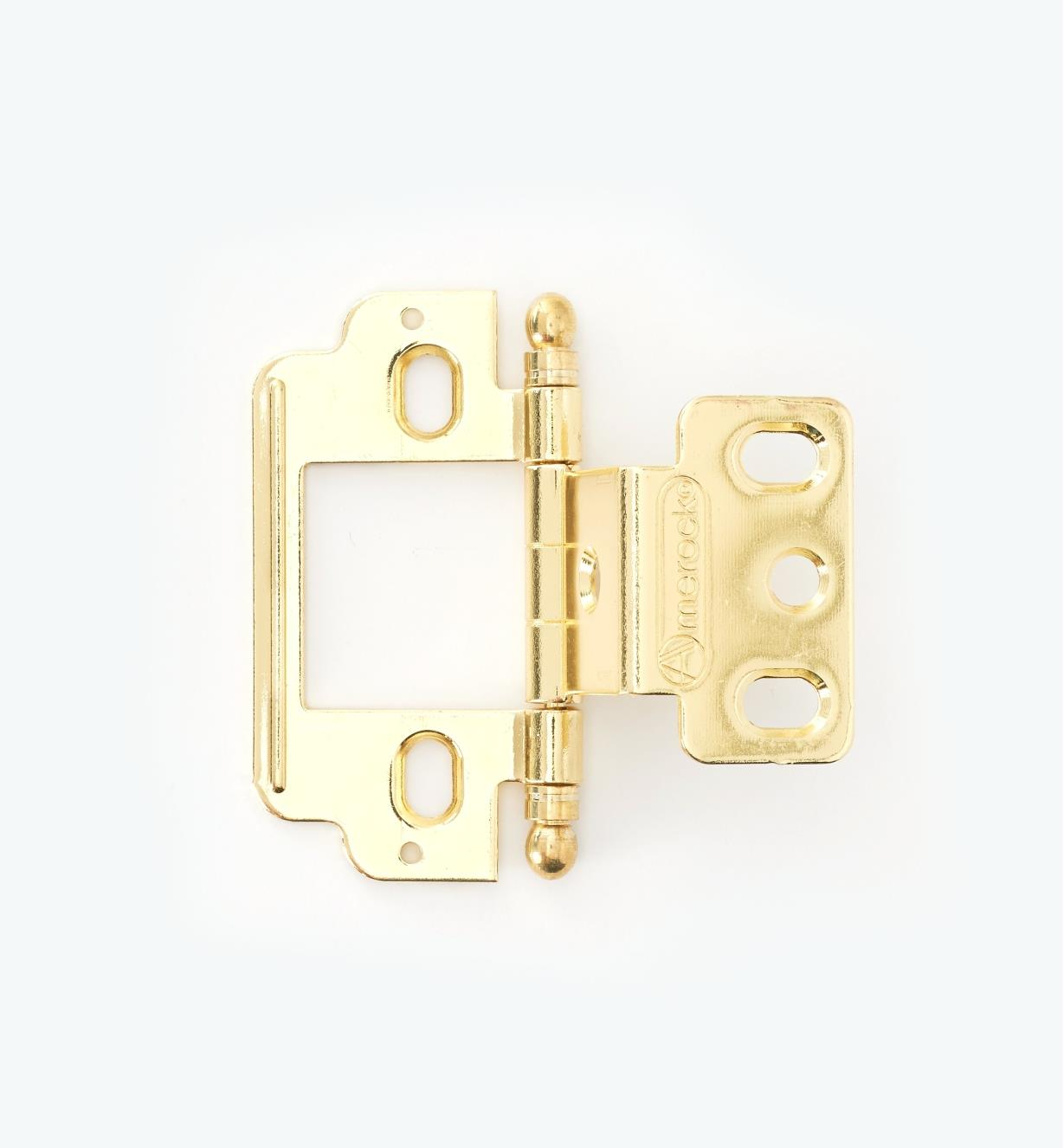01H3122 - Partial-Wrap Hinge,Brass Plate, Ball