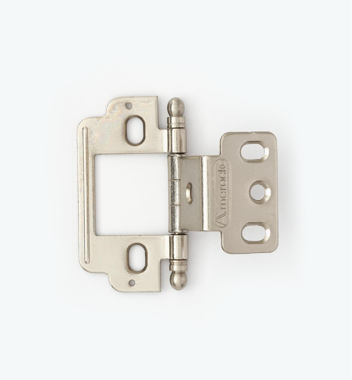 01H3142 - Partial-Wrap Hinge,Nickel Plate, Ball