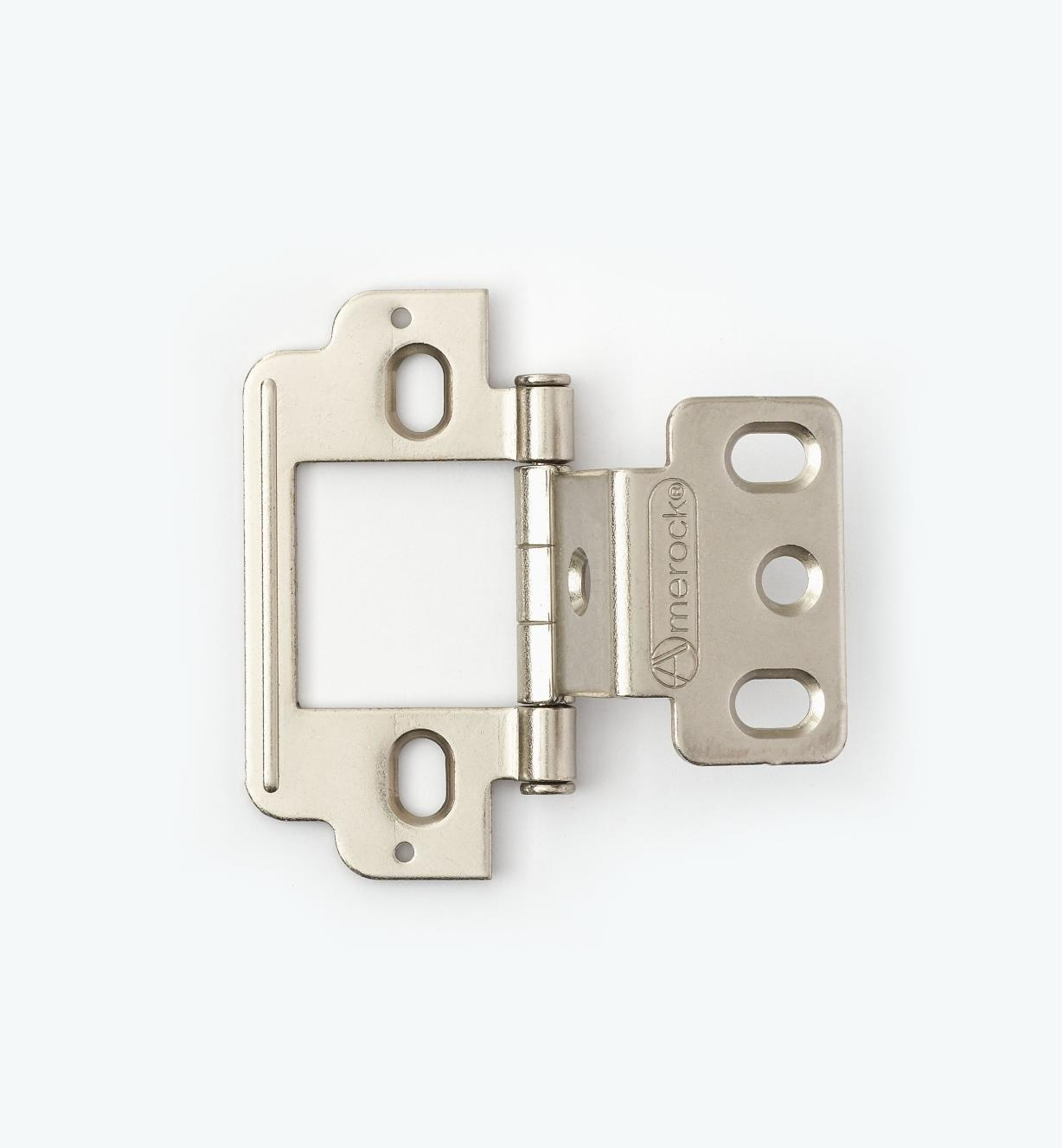 01H3144 - Partial-Wrap Hinge,Nickel Plate, Flat Pin