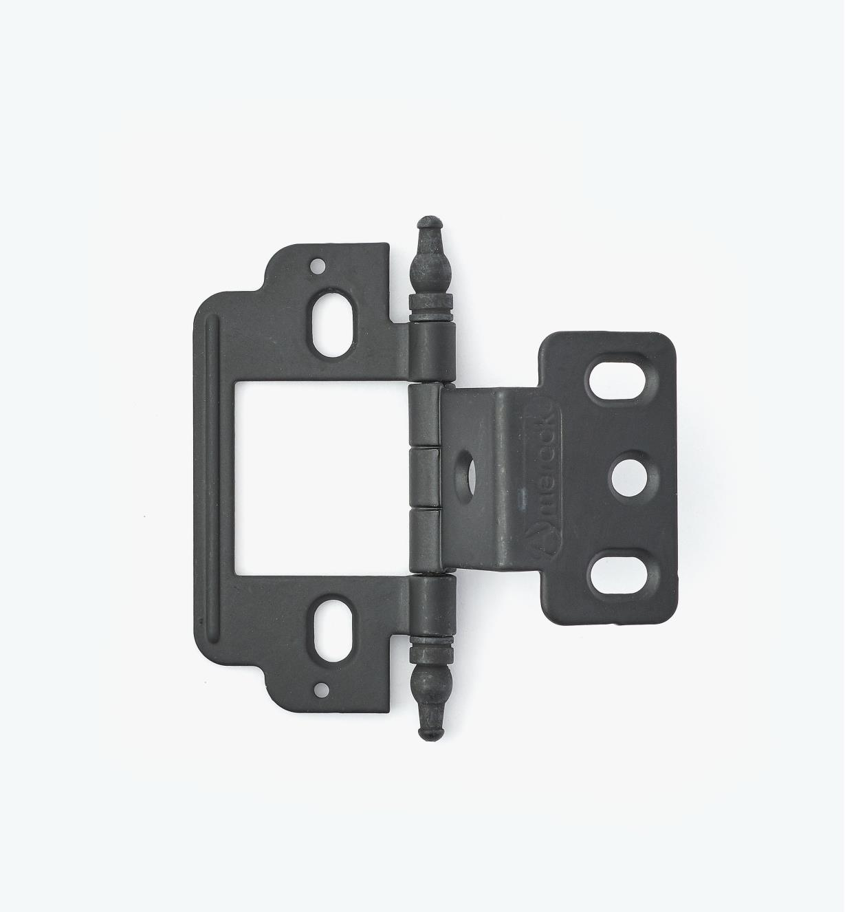 01H3160 - Partial-Wrap Hinge,Black, Minaret