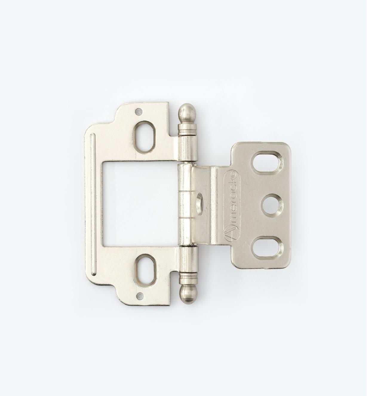 01H3182 - Partial-Wrap Hinge,Satin Chrome, Ball