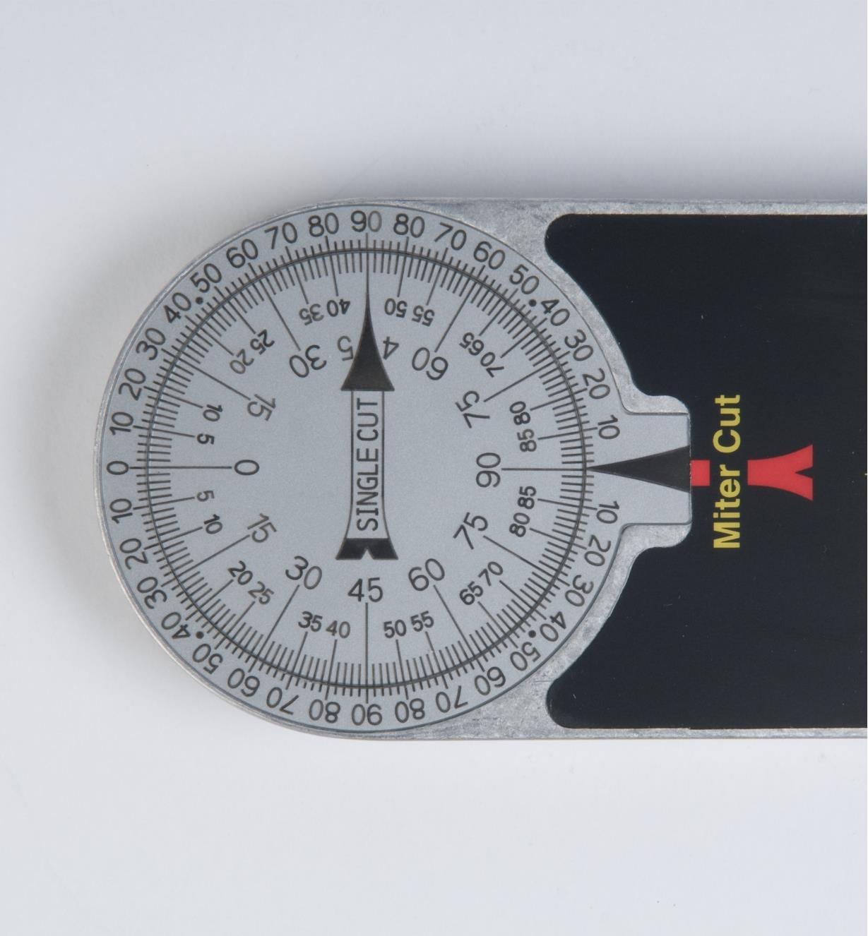 30N0310 - Jauge Starrett en aluminium pour scie à onglets, 12 po