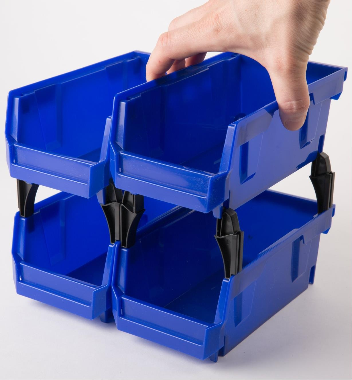 Industrial-Grade Stackable Storage Bins