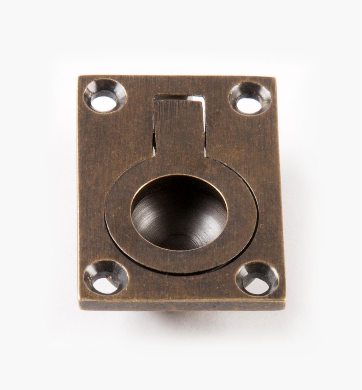 00A1832 - Poignée à anneau encastré forgée rectangulaire, 11/16pox11/2po