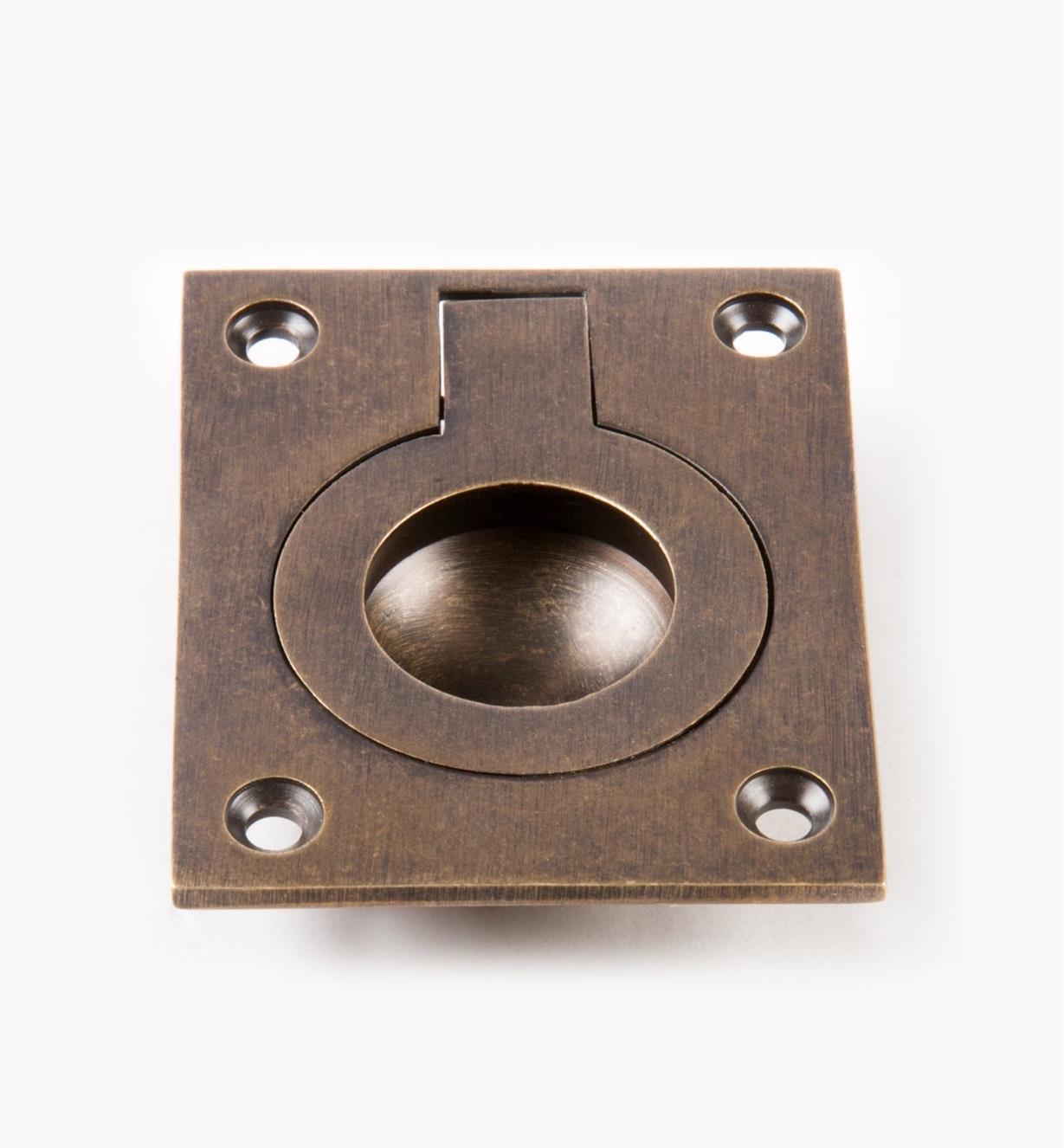 00A1836 - Poignée à anneau encastré forgéerectangulaire, 2pox21/2po