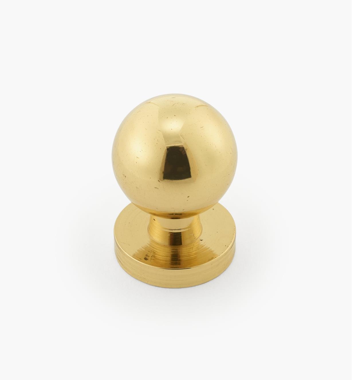 00W5101 - Bouton classique en laiton I à rosace intégrée, 5/8 po x 7/8 po