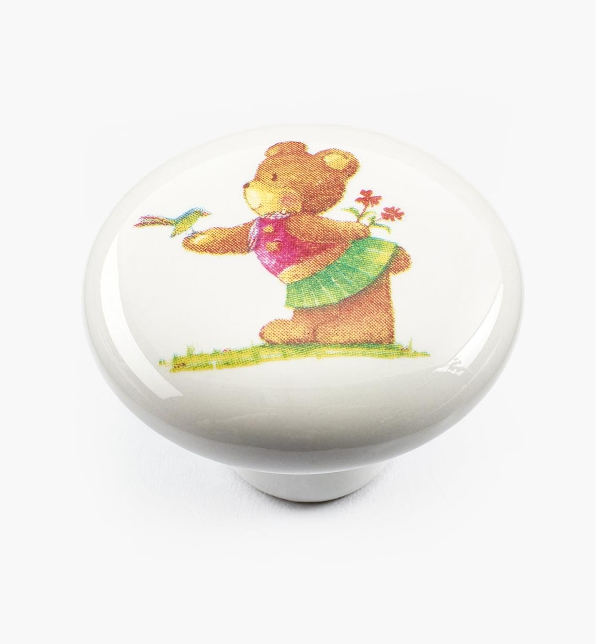 00W5272 - Bear with Bird Knob