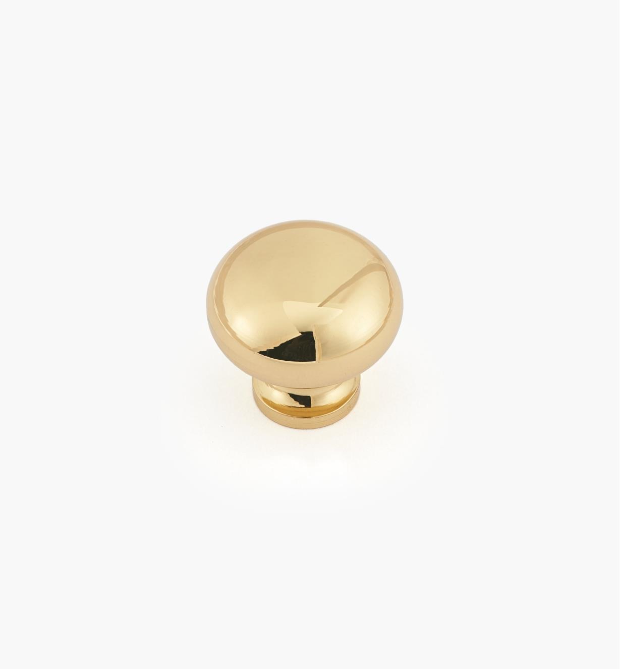 """00W5803 - 3/4"""" x 3/4""""Plain Classic Brass Knob"""