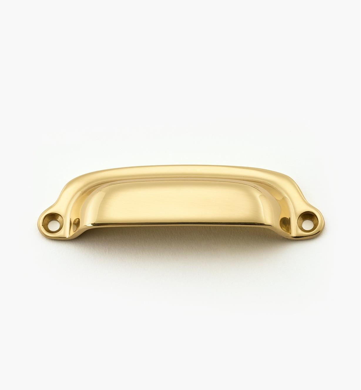00W8202 - Polished Brass 86mm Forged Pull