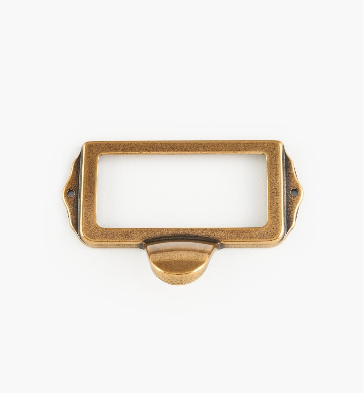 01A5752 - Burnished Bronze Card Frame/Pull