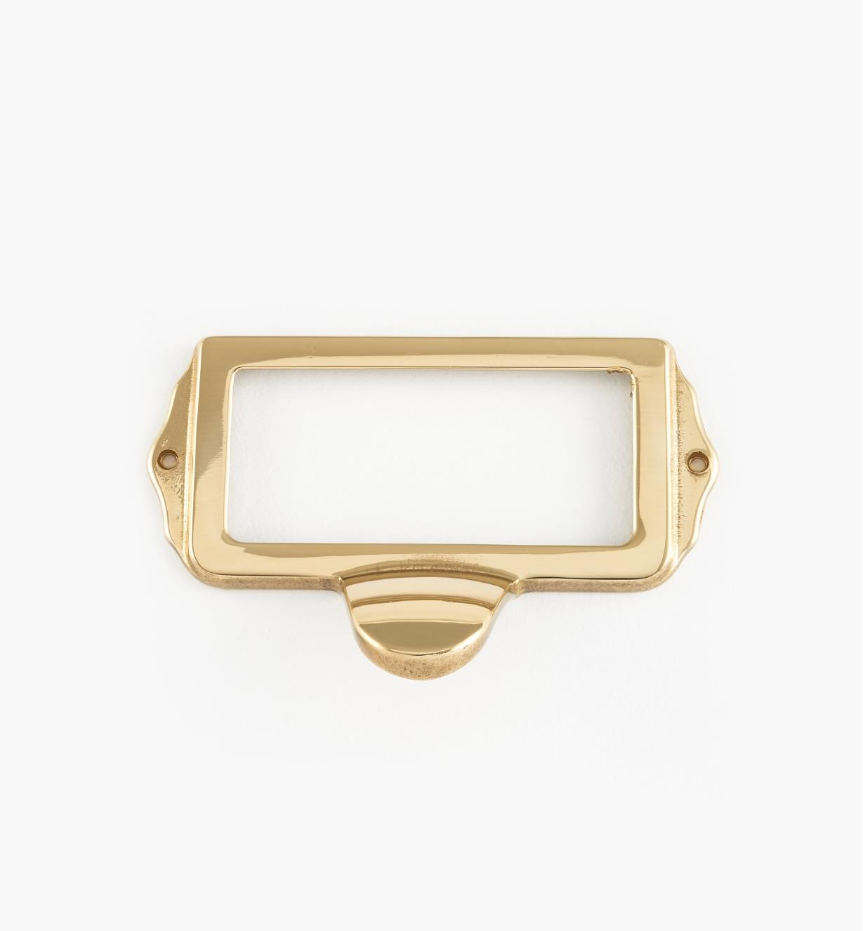 01A5753 - Polished Brass Card Frame Pull