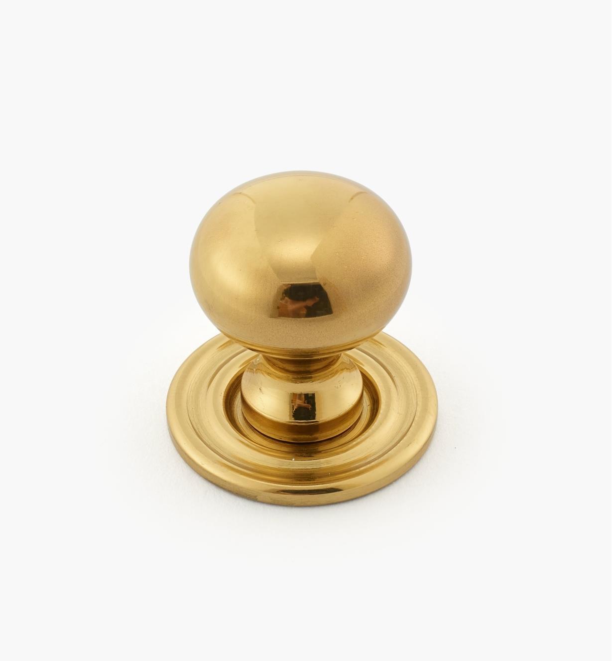 """01W0515 - 5/8"""" x  3/4"""" Classic Brass Knob"""