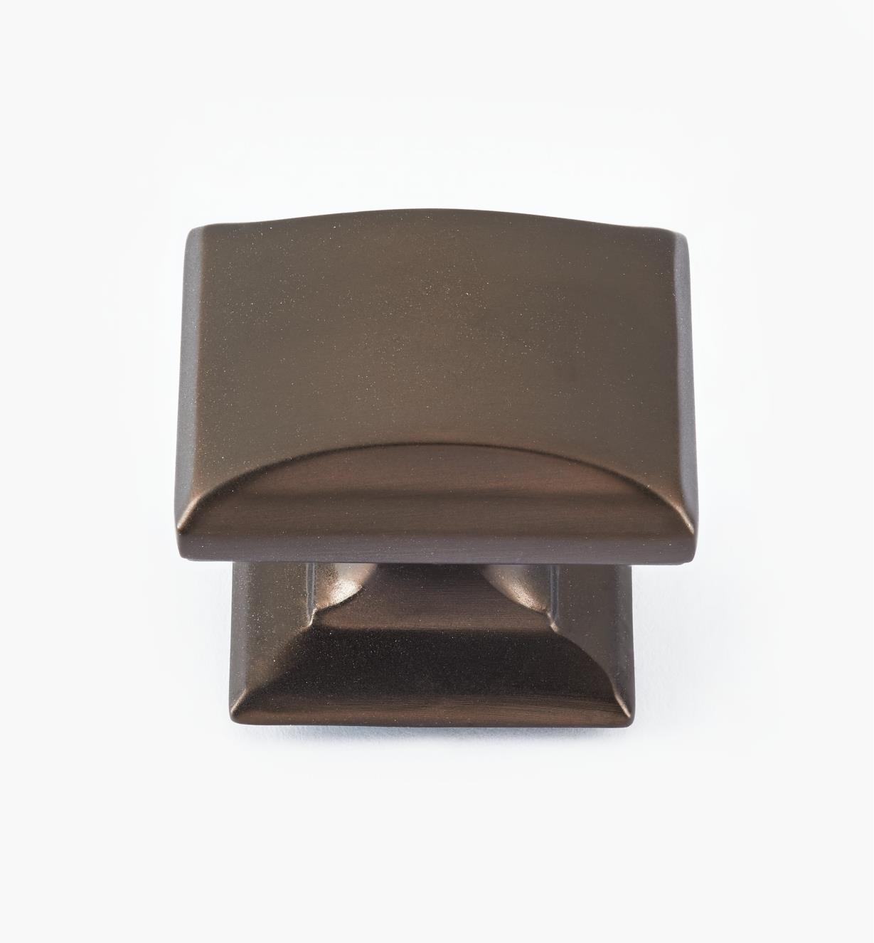 """02A1960 - 1 1/4"""" x 1"""" Caramel Bronze Candler Knob"""