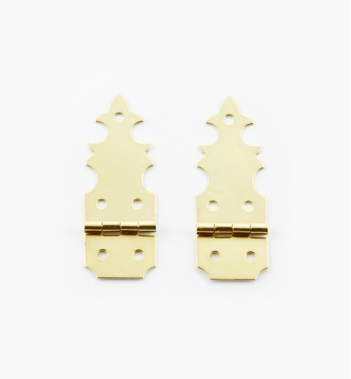 00D8050 - Pentures asymétriques en laiton, la paire